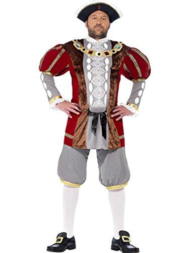 Kinder Viii Henry Kostüm - Henry VIII Herren-Kostüm, inkl. Mütze, M, L und XL