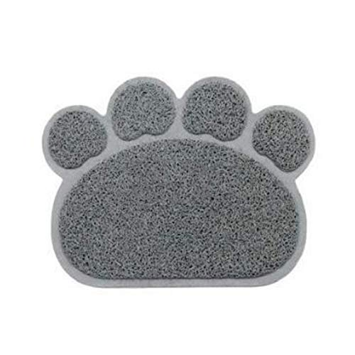 Yililay Durable Premium-Katzentoilette Mat Keine Phtalate wasserdicht Fallen Wurf aus dem Kasten heraus und CatsScatter weiche Matten Management Paws Kitty Easy Clean Mats Grau Kleinen Pet Supplies