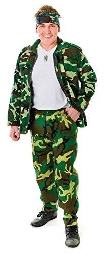 2Hosen-, Camouflage, One size (Mens Spielzeug Soldat Kostüm)