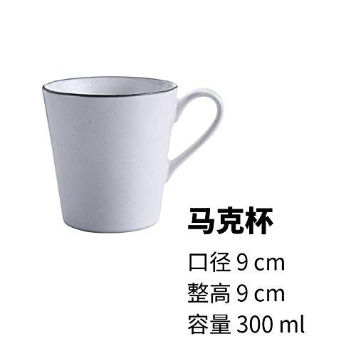 Ticoppr Weiße Tasse Milch Schale Frühstück Saft Tasse Kaffee Tasse Handgefertigte Keramik Geschirr (Geschirr Keramik Handgefertigtes)