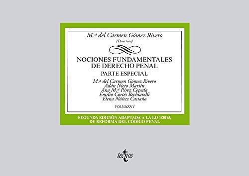 Portada del libro Nociones fundamentales de Derecho Penal: Volumen I. Parte especial (Derecho - Biblioteca Universitaria De Editorial Tecnos)