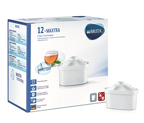 Brita Maxtra Water Filter Cartridges 12 Per Pack by Maxtra