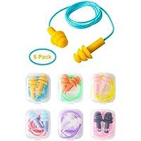 Tapones para oídos de silicona, paquete de 6 tapones para los oídos a prueba de agua de gel de silicona para nadar o dormir