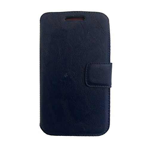 AryaMobi© Flip Cover, Synthetic Leather Flip Cover Universal Diary Case Cover For Karbonn Quattro L50 - Blue - Premium Cover