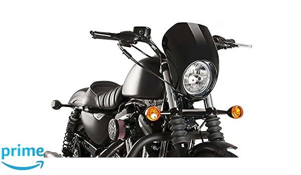 Customacces AZ1103N Verkleidungscheibe Anarchy Modell Schwarz Harley Davidson Sportster 883 Iron 09