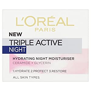 L'oreal – Triple active night, crema hidratante de noche, 50 ml