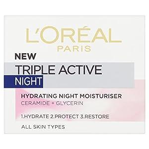 L'oreal – Triple active night, crema hidratante de noche, 50 ml