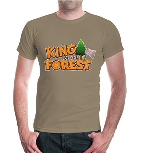 buXsbaum® T-Shirt King of the Forest Khaki-z-direct