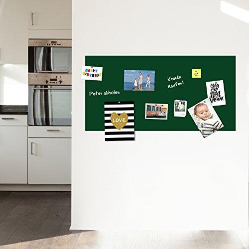 KaRo Products GmbH Selbstklebende und magnetische Premium Tafelfolie 50x100cm| Kreidetafel | Farbe: Grün | inkl.Kreidestift + 10er Set SuperMagnete| Kreidetafel | Wandfolie