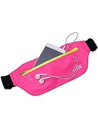 Waist Pack Bags Womens Outdoor Sport Running Fanny Packs With Headphone Hole Belly Waist Hip Packs