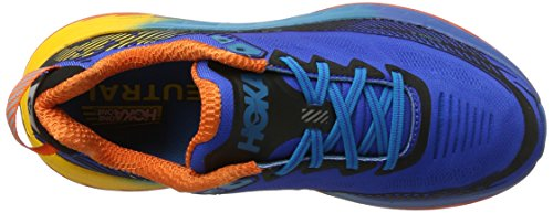 Hoka One Herren Bondi 5 Laufschuhe Blau (Blue/red Orange/gold Fusion)