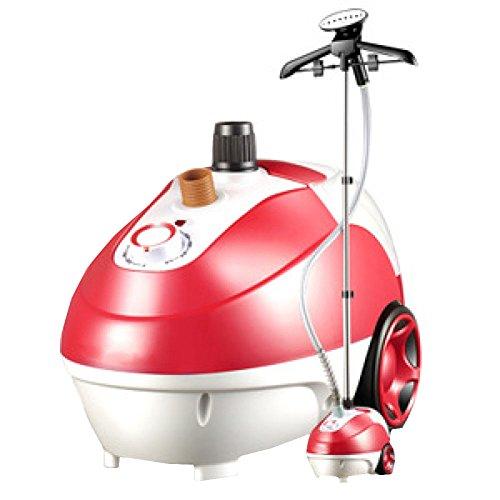 QIAOY Haushalt Kleidung Dampfer Einstellbarer Dampfdurchfluss Dampf-Hängemaschine Handheld-Haushalts-Hängendes Eisen-Bügelnde Bügelmaschine,Red