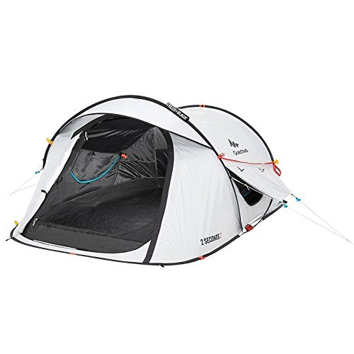 Preisvergleich Produktbild Quechua 2 Seconds Easy II FRESH & BLACK 2 Man Waterproof Pop Up Camping Tent by Quechua