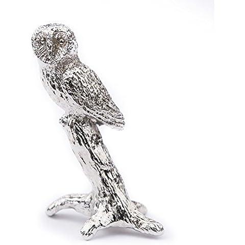 Búho (Tamaño S) Hecho en Reino Unido Artístico Animal Figura Colección
