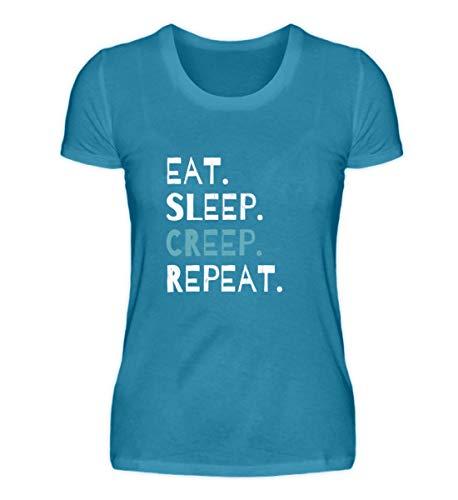 Eat Sleep Creep Repeat - An Halloween Das Wahre Gruselige schreckliche Ich Zeigen - Damen Organic Shirt