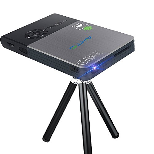 Proyector Portatil - OTHA Mini Proyectores Entrada HDMI - 120 Pulgadas InaláMbrico De Cine En Casa Cine - Funciona Con Wifi / HDMI/ Bluetooth / USB / TF / Airplay / Miracast / Eshare - Ideal Para Reuniones O Fiestas - Negro(32GB)