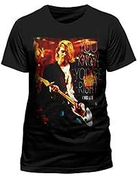 Kurt Cobain Official Nirvana Right Rock Tee T-Shirt Top Clothing Mens Ladies Womens Unisex