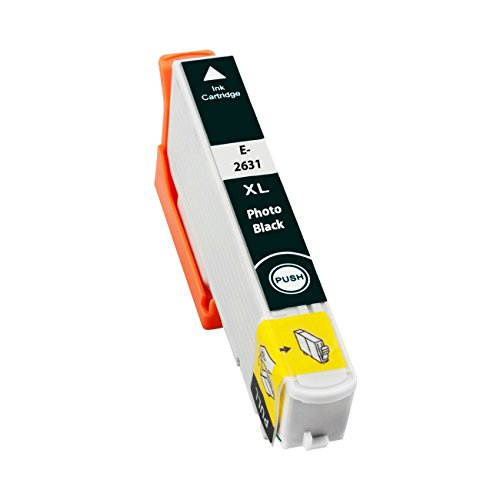 Preisvergleich Produktbild Tintenpatrone für Epson T2631XL 26XL Schwarz - Schwarz,  12, 5 ml,  kompatibel zu C13T26314010