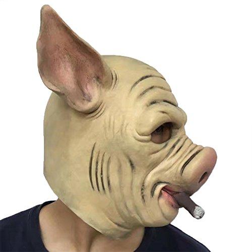 Halloween Party Mardi Gras Masken Latex Jaffaite Plastik Lustige Maskerade Masken Scary Haunted Haus Gesichtsmaske Kopfbedeckung Dekorationen Moive Film Tier (Zum Kostüme Coole Verkauf Halloween)