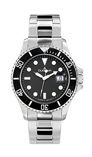 Dugena Herren-Armbanduhr Diver Automatik - Sport Line Analog Automatik Edelstahl 4460512