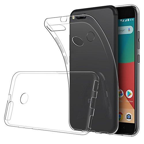Simpeak Cover compatible per Xiaomi Mi 5X, Cover Xiaomi Mi A1, Custodia Chiaro Cristallo Liquid Crystal Estremamente Sottile & Puro Trasparente - Custodia Xiaomi Mi 5X,Cover Xiaomi Mi 5X ,Custodia Xiaomi Mi 5X