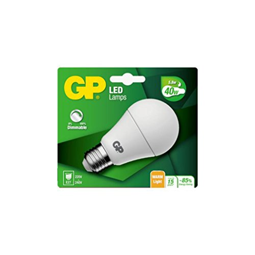 5,8 W Led (GP Battery - GP Batteries GP Lighting LED Classic E27 5,8 W (40 W) Dimmable)
