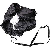 VORCOOL Laufender Regenschirm-Geschwindigkeitstraining-Fallschirm-Eignung-explosive Energie-Fallschirm-Widerstands-Ausrüstung mit justierbarem Bügel (schwarz)