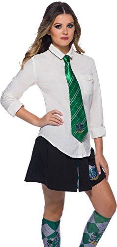 (Harry Potter Adult Costume Neck Tie, Slytherin, One Size)