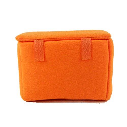 DRF Custodia Morbida Impermeabile per Fotocamera Reflex antiurto protezione Inserto per DSLR #BG-219 (Arancione)