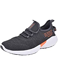 c39ece4f2525 calcetto Latest Collection for Mens Grey Orange Synthetic   Nylon Mesh  Sports Shoes