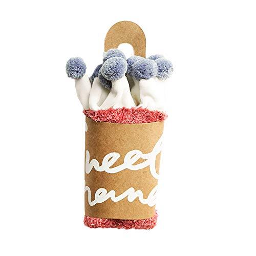 FOANA Baby Kinder Dicke Flauschige Socken Rutschfeste Slipper Socken Knöchel Mode Karikatur Bequemen Thermo Kuschel Vollplüsch socken Winter Warme für 0-5 Jahre Neugeborene Jungen Mädchen