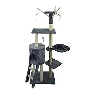 poils plumes le magique arbre a chat griffoir 50x35x138 cm animalerie. Black Bedroom Furniture Sets. Home Design Ideas