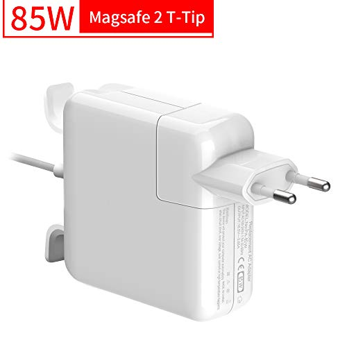 """Rocketek Cargador Mac Book Pro 85W, Compatible con Cargador MacBook, MagSafe 2 Forma de T Adaptador de Corriente Funciona con los Macbook 45W/60W/85W-13 15\"""" 17\""""-Cargador para MacBook Mediados"""