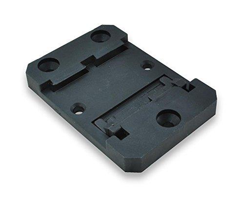 2Stück DIN Schiene Montageplatte Klammern für Standard 35mm DIN-Schiene und mit Schiene Tiefen von 7,5mm oder mehr - 2
