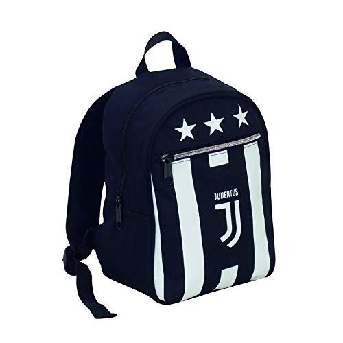 Zaino small - juventus - bianco nero - prodotto ufficiale - 10 lt - scuola e tempo libero