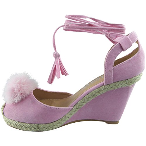 CORE COLLECTION  Bada, Damen Espadrilles Pink Suede