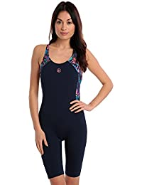 0dca51800976f Halocline Abstract Swimming One Piece Body Suit Knee Length Swimsuit-  Prismatic