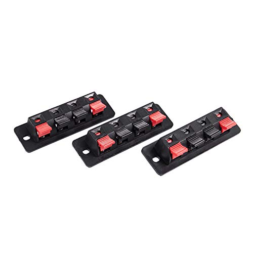 TOOGOOR 3Pcs 4 pines rojo negro Resorte