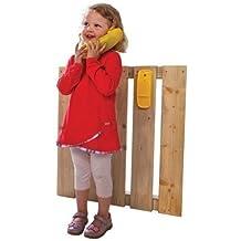 LoggyLand Teléfono Infantil para Torre/caseta de Juego Rojo