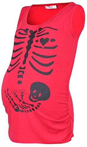 Happy Mama. Femme. Maternité top tee shirt grossesse squelette bébé. 243p Fuchsia