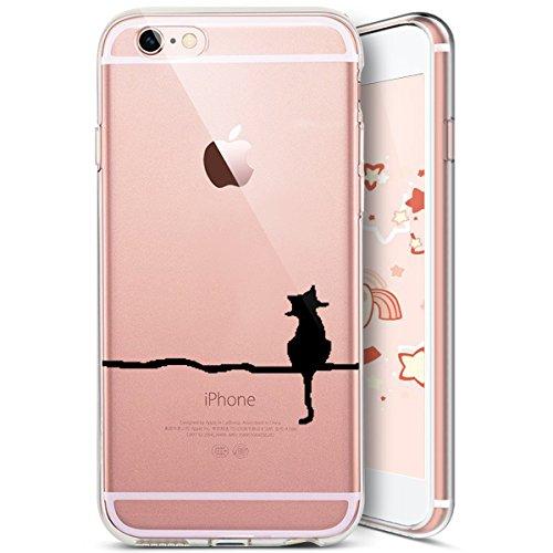 Coque iPhone SE,Coque iPhone 5S,Coque iPhone 5,Ukayfe [Liquid Crystal] Coque en Silicone Souple TPU Housse Etui de Protection avec Absorption de Choc et Anti-Scratch Silicone Transparent Coque [Créati Chat#2