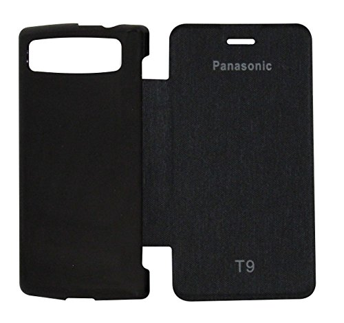 VRV Flip Cover For Panasonic T9 - Black  available at amazon for Rs.175