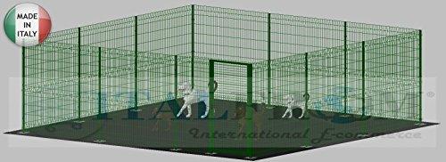 Recinto Box Modulare Per Cani In Ferro Zincato E