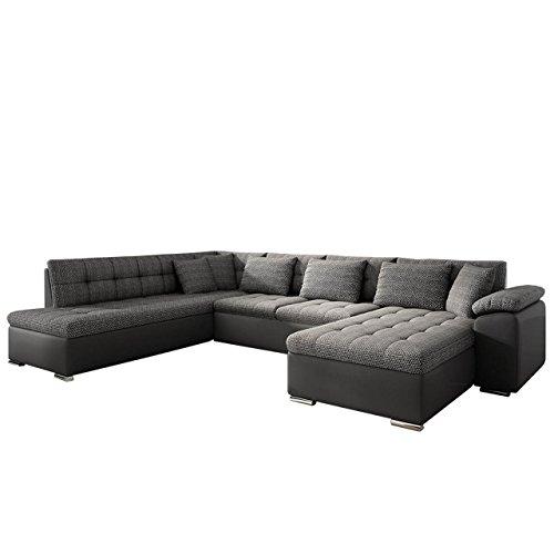 Eckcouch Ecksofa Niko Bis! Design Sofa Couch! mit Schlaffunktion und Bettkasten! U...