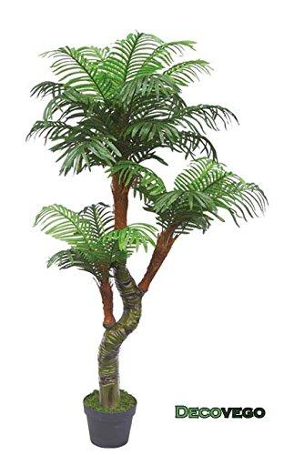 Decovego Palme Palmenbaum Cycuspalme Kunstpflanze Kunstbaum Künstliche Pflanze mit Topf 165cm