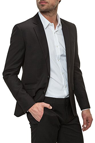 Antony Morato Herren Sakko Slim Fit Blazer Anzugjacke Nero (Col. 9000)
