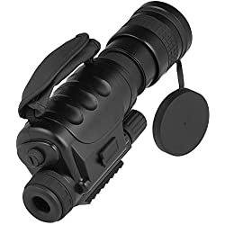 YTBLF Binoculares de Gran Aumento 8 × 60 Gafas de visión Nocturna monocular de visión Nocturna Digital para la Caza de Infrarrojos Equipo cámara de Camping