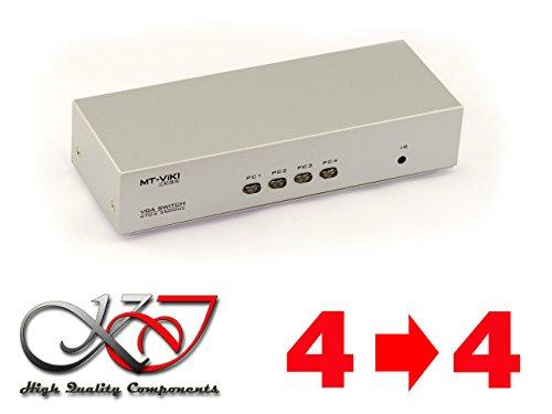 Kalea Informatique Matrix VGA 4auf 4Ports//Bandbreite 350MHz//–Switch und Splitter gleichzeitig.–Mit Kontrolle Remote durch Fernbedienung oder Verbindung RS232