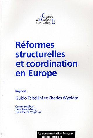 Réformes structurelles et coordination en Europe