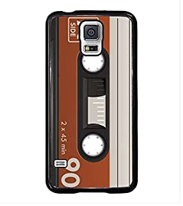 Fuson 90 Minutes Cassette Designer Back Case Cover for Samsung Galaxy S5 :: Samsung Galaxy S5 G900I :: Samsung Galaxy S5 G900A G900F G900I G900M G900T G900W8 G900K (Parish Wonder Vintage Eiffel Tower Car Bike Scooter Cassette Coffee)